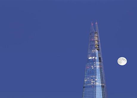 The Shard. Architect: Renzo Piano; Lighting Consultant: ARUP Lighting